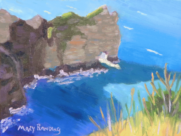 Cliffs at Étretat | Original seascape oil painting by Mary Planding