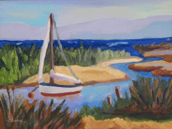 Secret Cove | Original oil seascape painting by Mary Planding