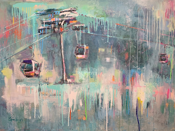 Original Art |Abstract Ski Paintings | by Steph Fonteyn