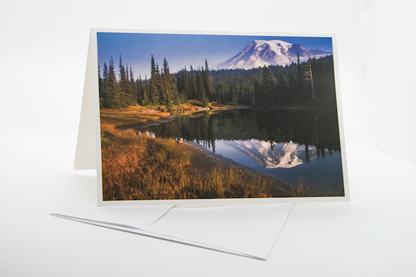 Mt Rainier Morning Light   Note Card | Robert Vielee Photography