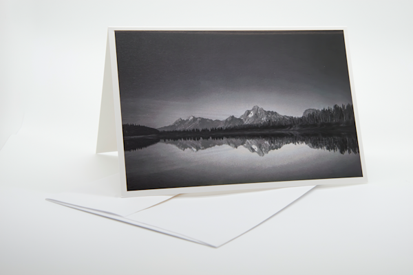 Dawn Over The Tetons   Note Card | Robert Vielee Photography