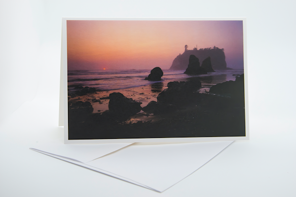Olympic Coast   Note Card | Robert Vielee Photography