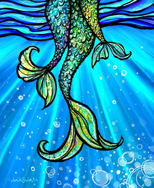 Little Mermaids Art | Swim Whimsey
