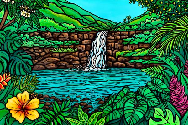 Waimea Falls Art | Swim Whimsey