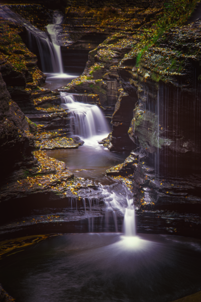 Rainbow Falls Watkins Glen Photography Art | Robert Vielee Photography