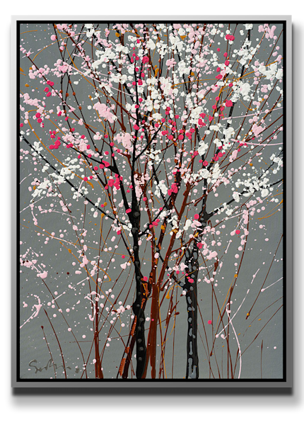 """Simon Bull Available Original Painting - """"3 Shades of Pink"""""""