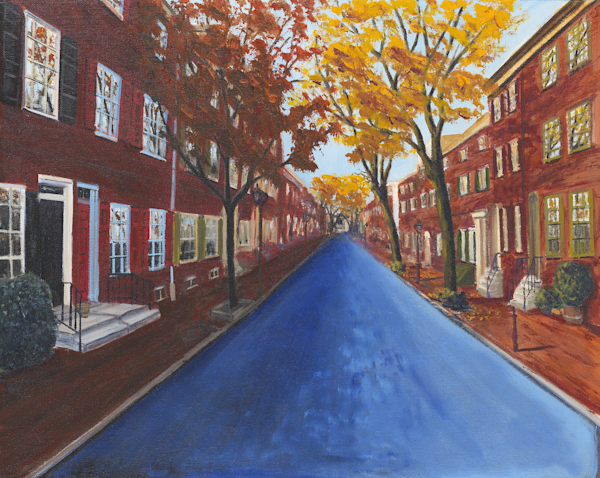 Delancey Street Fall Colors Print