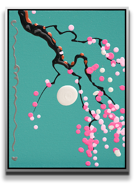 "Simon Bull Available Original Painting - ""Silver Moon"""