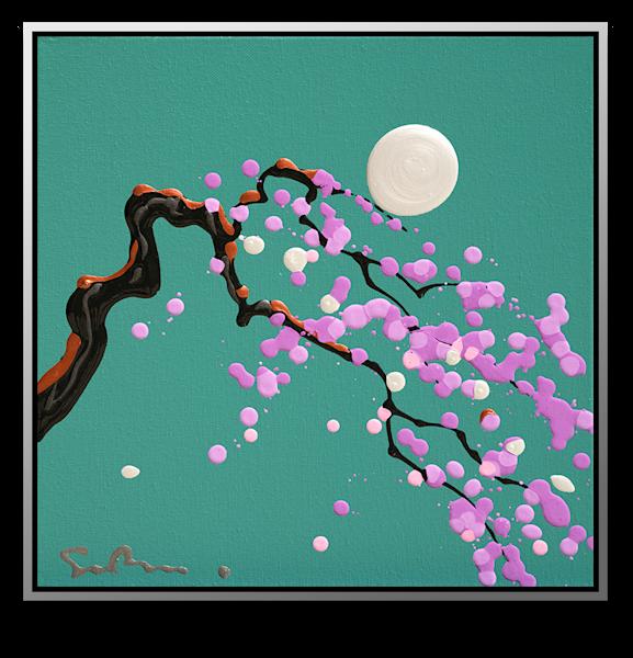 "Simon Bull Available Original Painting - ""Plum Blossom"""