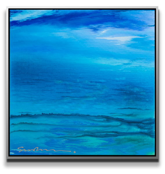 "Simon Bull Available Original Painting - ""Blue Infinity"""