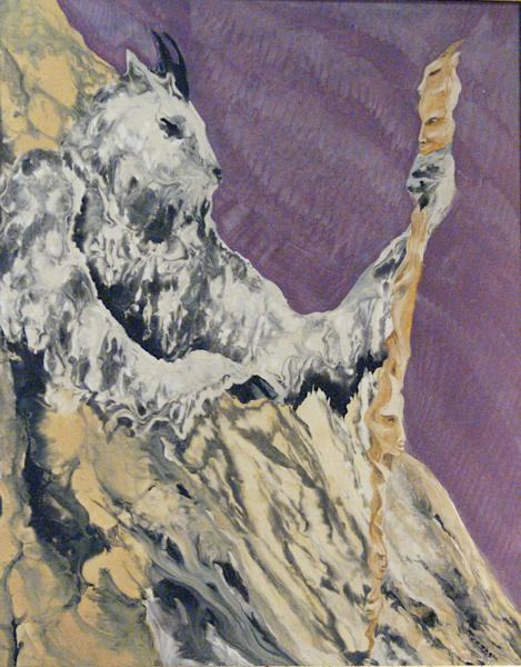 Mountain Goat Shaman Painting Art | treshamgregg - spiritart