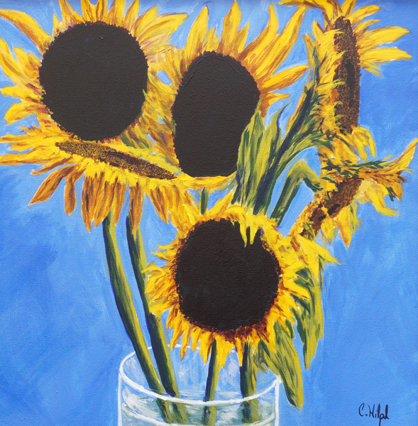 Sunflowers In Vase Print