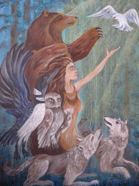 Forest Friends Painting | treshamgregg - spiritart
