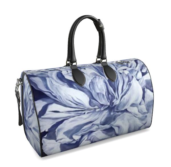 Purple Peony Large Duffle Bag   ebaumeistermcintyre