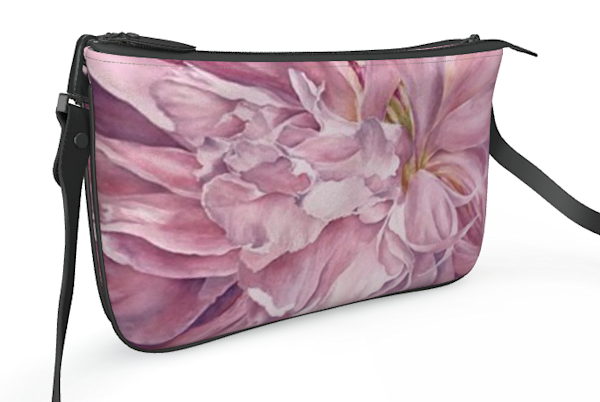 Pink Peony Double Zip Bag   ebaumeistermcintyre