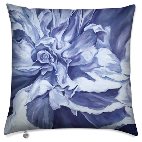 Purple Peony Swirl Pillow | ebaumeistermcintyre