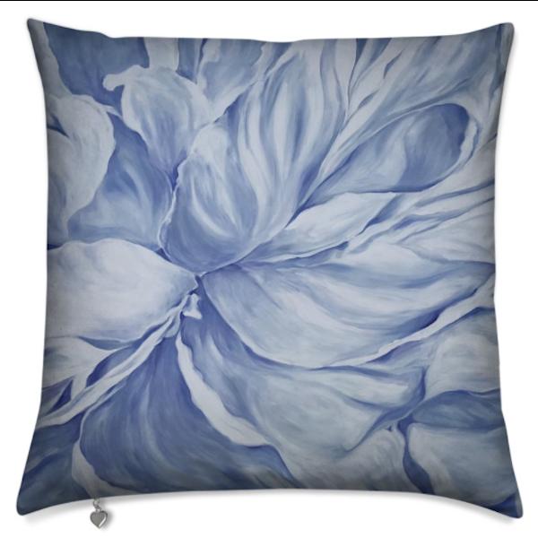 Blue Peony I Pillow | ebaumeistermcintyre