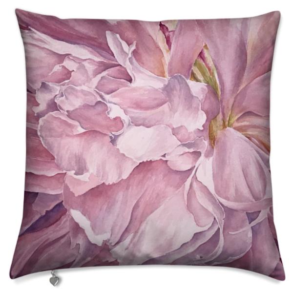 Pink Peony I Pillow | ebaumeistermcintyre