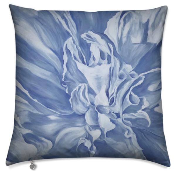 Blue Peony Ii Pillow | ebaumeistermcintyre