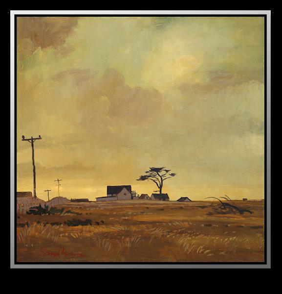 """Simon Bull Available Original Painting - """"Near Fort Bragg V"""""""