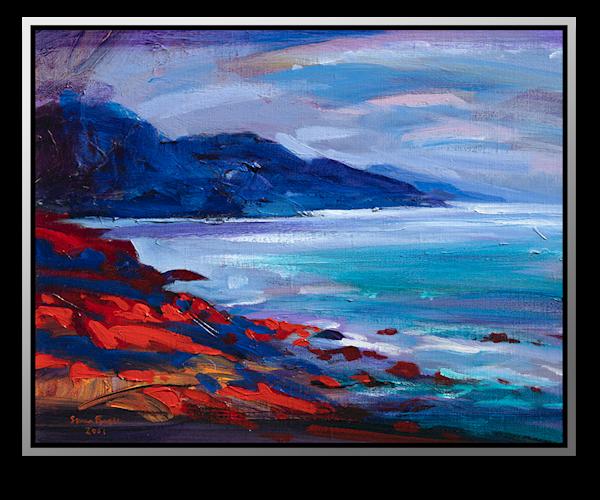 "Simon Bull Available Original Painting - ""Towards Big Sur"""