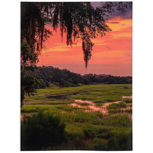 Bluff Sunrise Blanket   Willard R Smith Photography