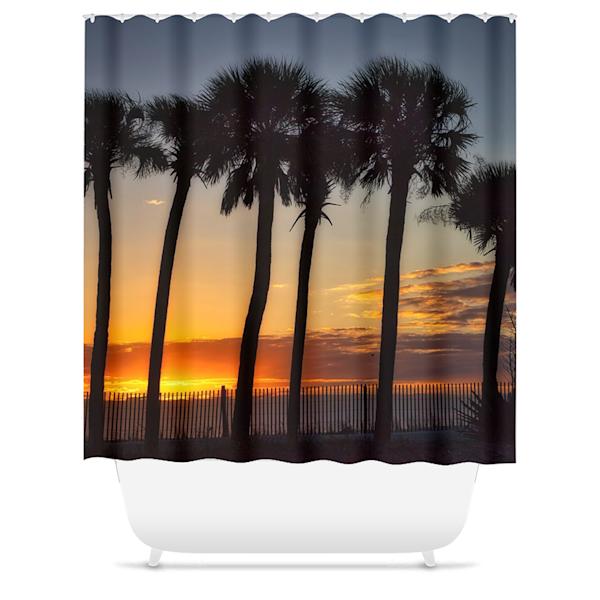 Palm Shower Curtain   Willard R Smith Photography