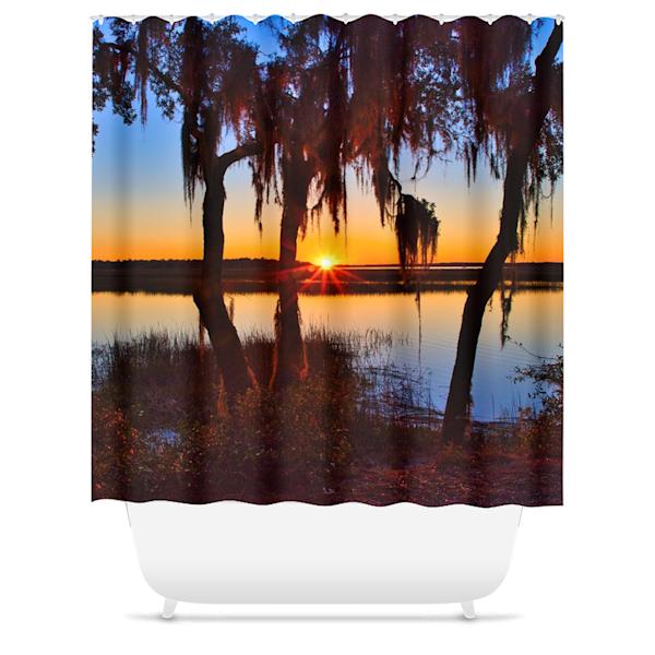 Sunset Shower Curtain   Willard R Smith Photography
