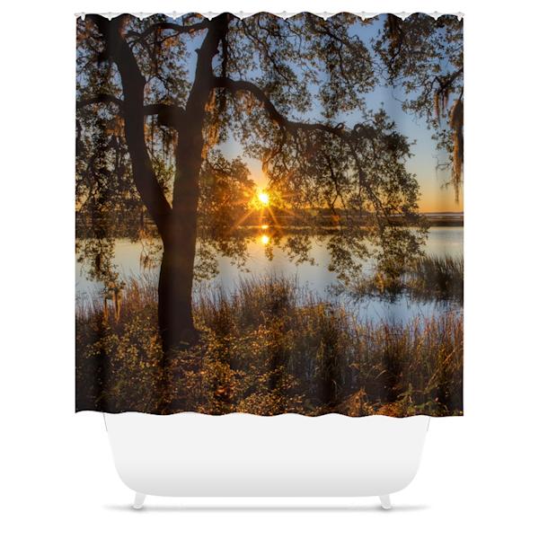 Lace Sunset Shower Curtain   Willard R Smith Photography