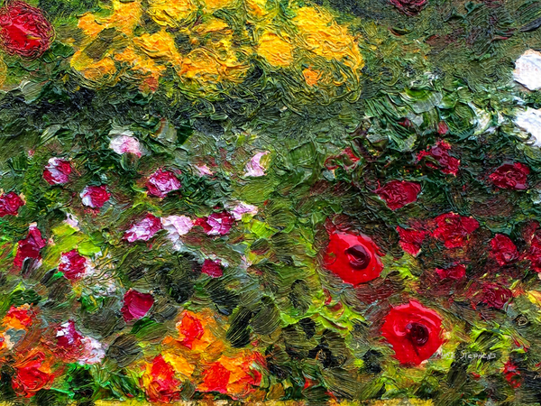 For Her a Monet Inspired Oil Painting by Artist Marie Stephens