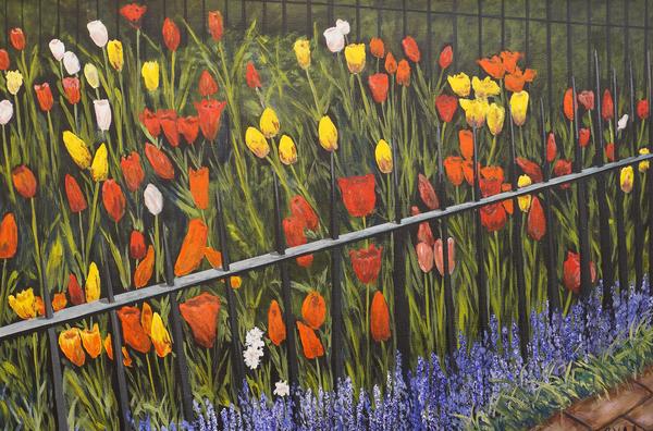 Tulip Garden Print