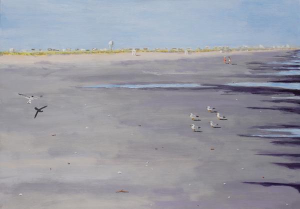 Late Afternoon Beach Scene Print