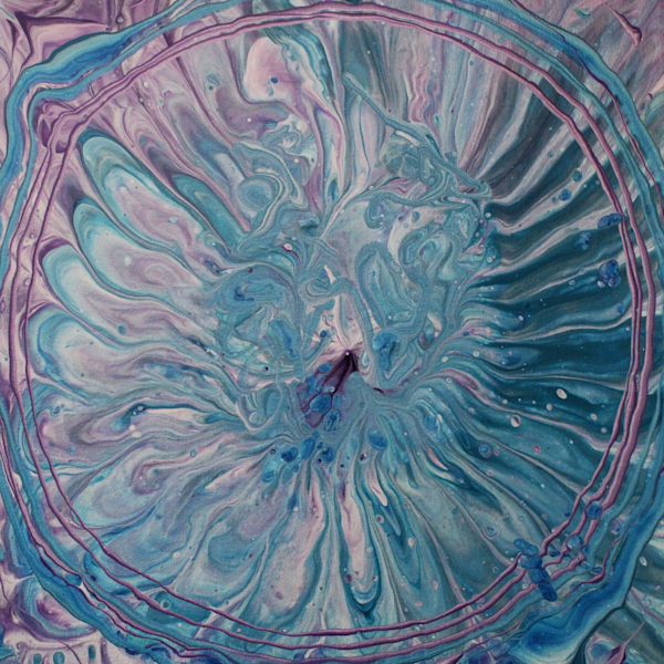Floral Swirl - Abstract Acrylic Pour Painting Print