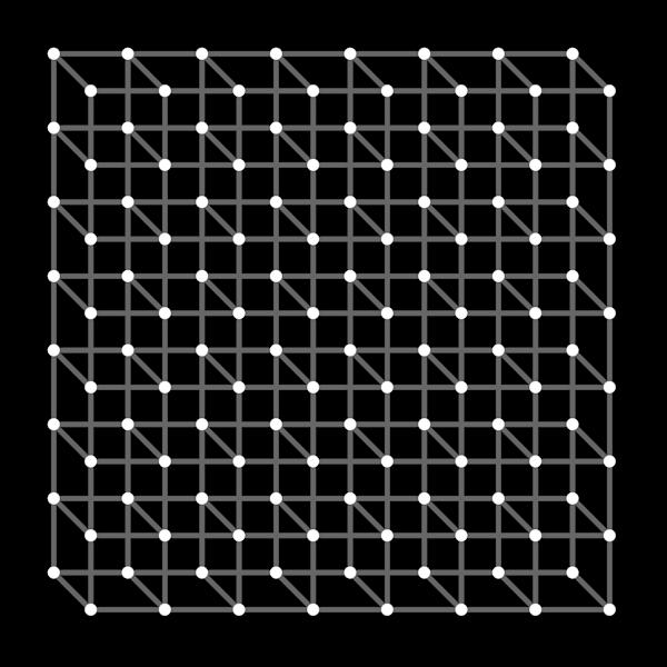 Scintillating Necker Cube Array Art | Between Art and Science