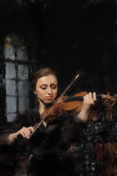 Violin Player Acrylic Art | Windhorse