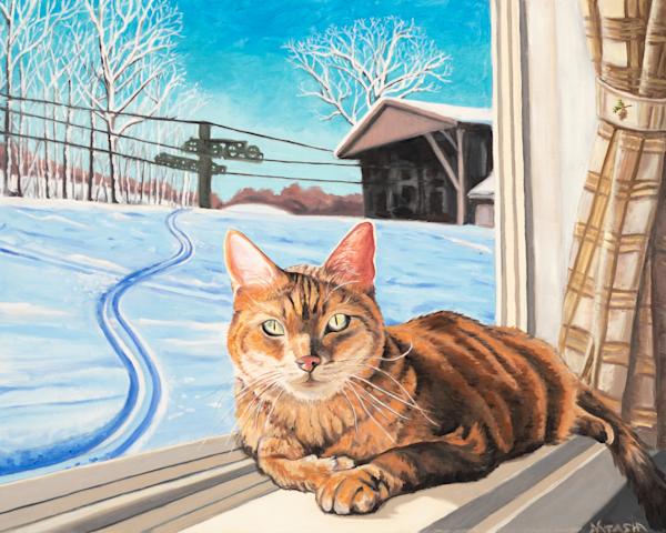 'Slopeside Kitty' Art for Sale