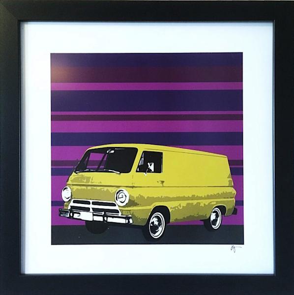 Yellow Dodge 1970 Art | Jon Savage Contemporary Art