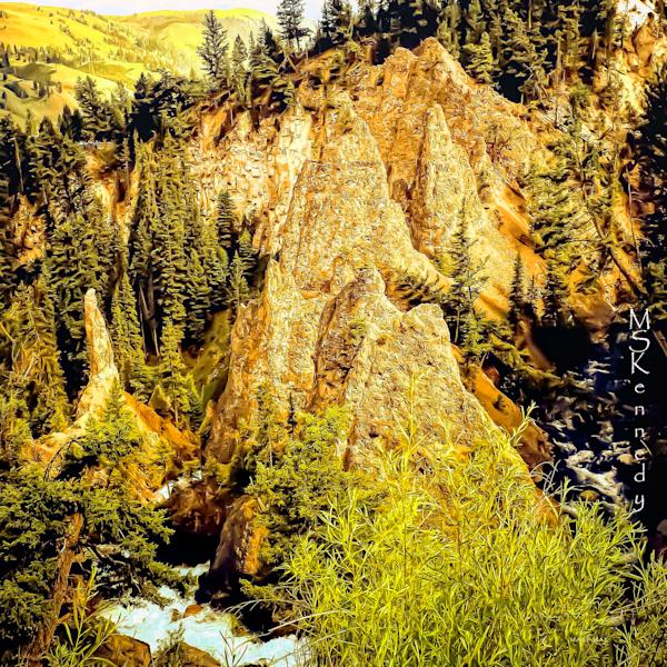 Winding Mountain Stream Art   Cutlass Bay Productions, LLC