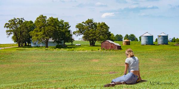 Girl On Farm Art | Cutlass Bay Productions, LLC