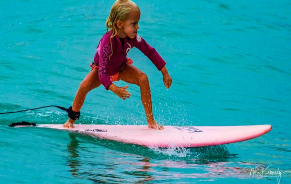 Little Girl Surfer Art | Cutlass Bay Productions, LLC