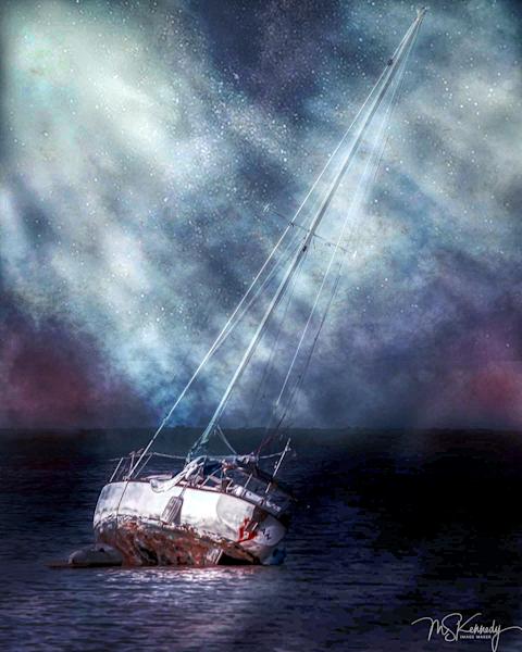 Sailboat At Low Tide Art | Cutlass Bay Productions, LLC