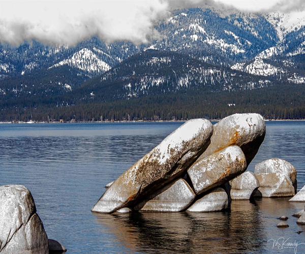 Layered Rocks Lake Tahoe Art   Cutlass Bay Productions, LLC