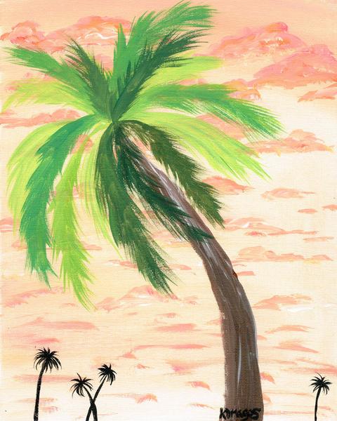 Vacay Palms Art | Paintpourium