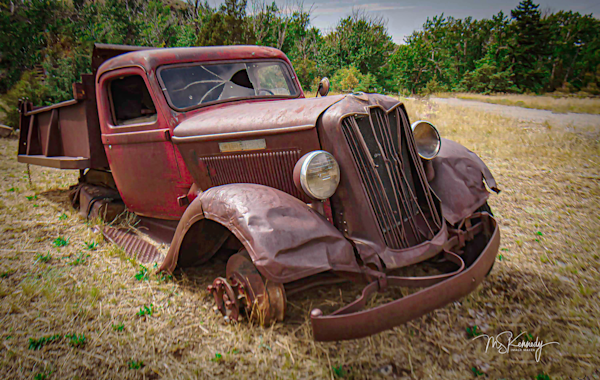 Old Red Truck Art | Cutlass Bay Productions, LLC
