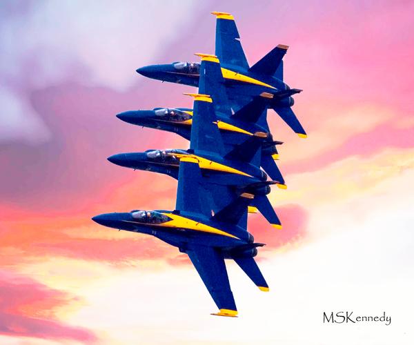 Blue Angels Tight Formation Art | Cutlass Bay Productions, LLC