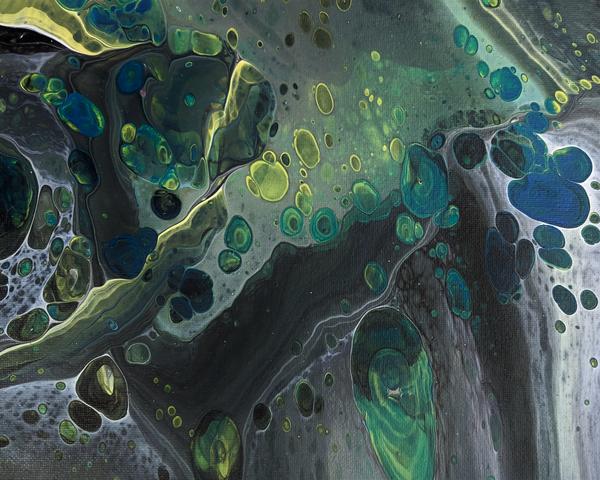 Colorful Bubbles - Art prints from fluid artwork