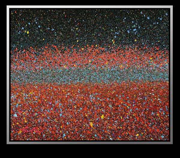 "Simon Bull Available Original Painting - ""Monet's Garden"""