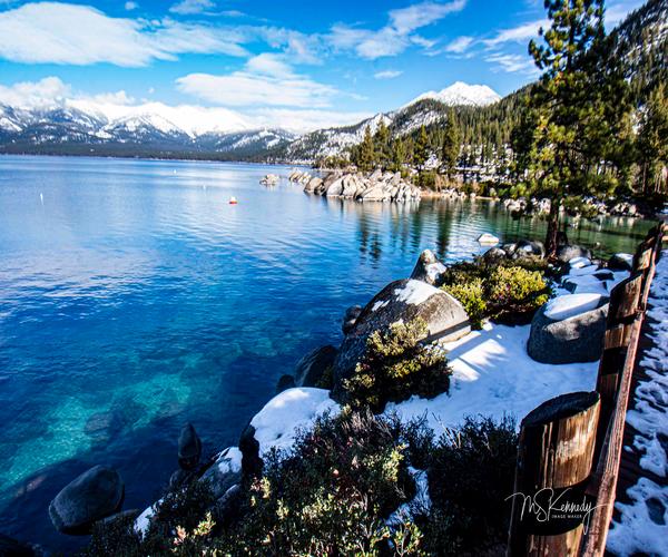 View Of Lake Tahoe Shoreline Art | Cutlass Bay Productions, LLC