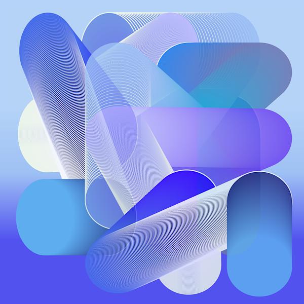 Caroline Geys | Op-art Louis | Blue | Design