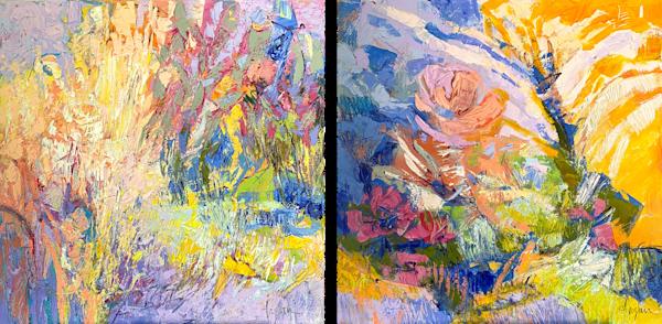 Large Canvas Prints Will 0' Wisp, On Golden Pond Art   Dorothy Fagan Joy's Garden